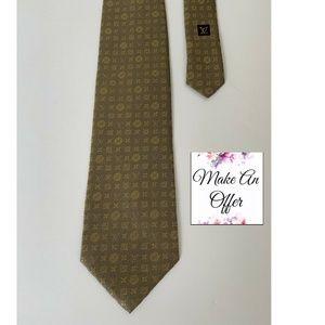 Louis Vuitton Tie, LV Monogram 100% Silk